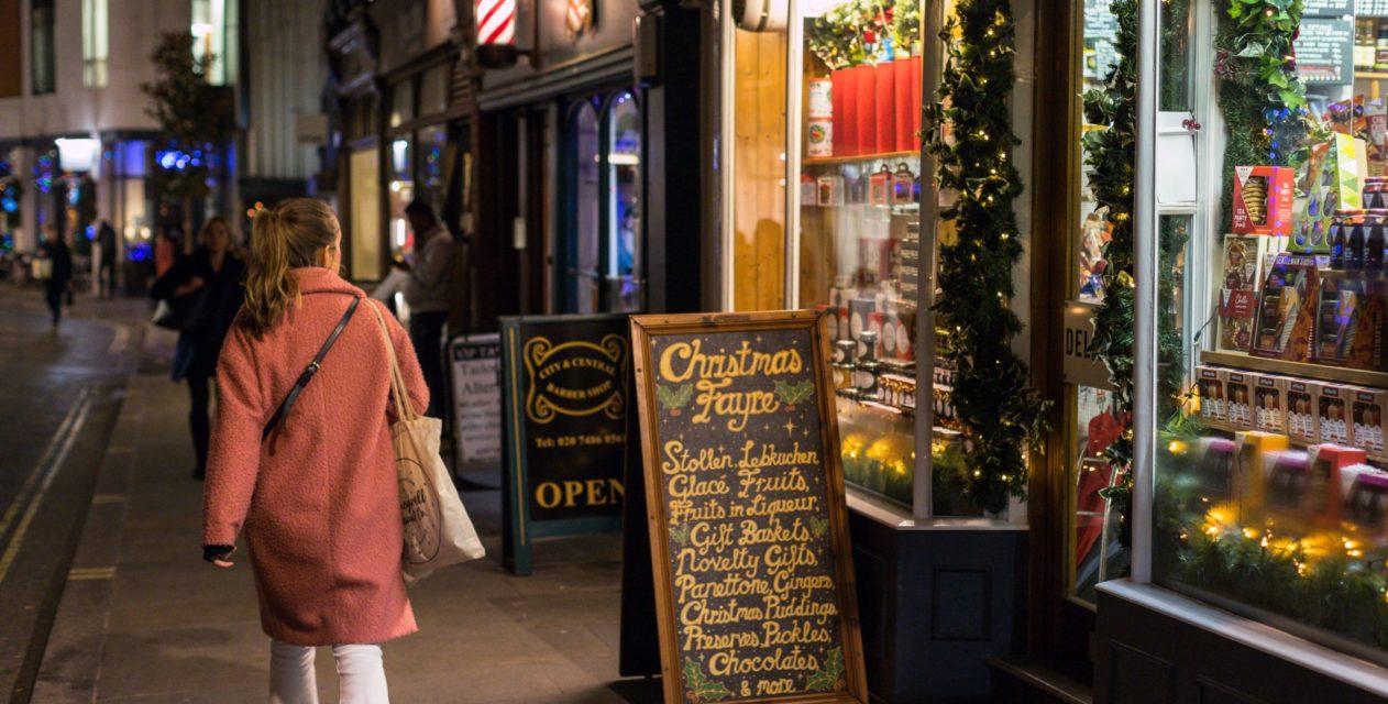 Marylebone Lane Christmas Shopping Evening